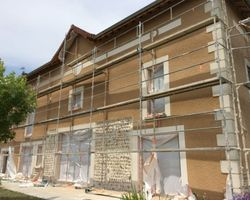 ENES FACADES - RIVES -   RENOVATION ET JOINTS DE PIERRE CHANTIER LE GRAND LEMPS